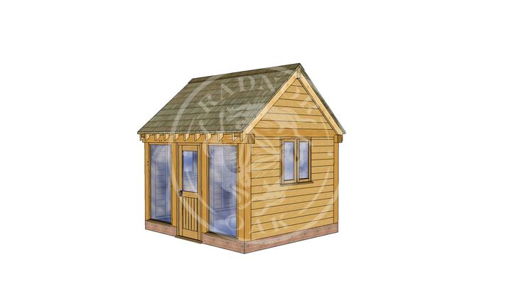 Oak Framed Summer House | Radnor Oak | SHS007 | RHE
