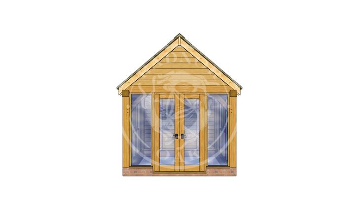 Oak Framed Summer House | Radnor Oak | SHS008 | FRONT
