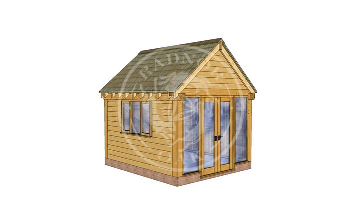 Oak Framed Summer House | Radnor Oak | SHS008 | LHE