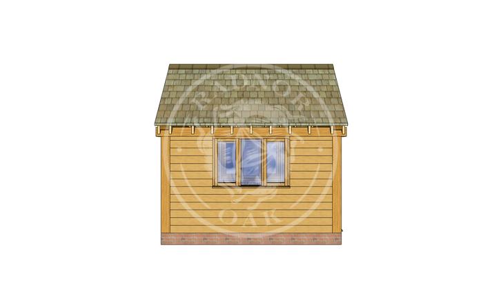 Oak Framed Summer House | Radnor Oak | SHS008 | LEFT