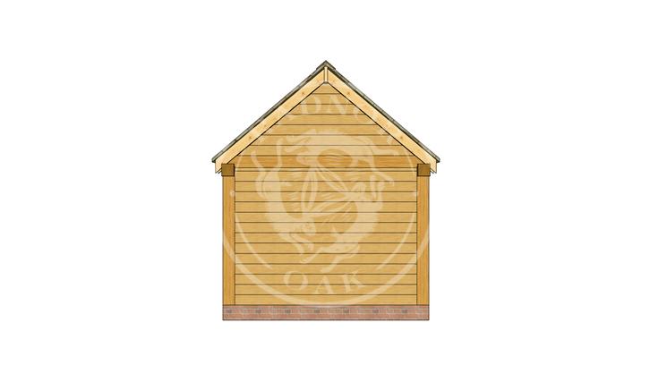 Oak Framed Summer House | Radnor Oak | SHS008 | BACK