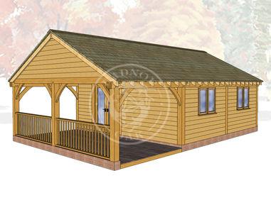 Oak Framed Annexe | Radnor Oak | ANX-BYL3005 | Main Image