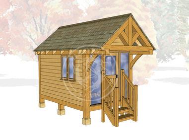 Oak Framed Summerhouse | Radnor Oak | GC001 | MAIN IMAGE