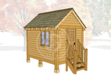 Oak Framed Summerhouse | Radnor Oak | GC003 | MAIN IMAGE