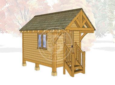 Oak Framed Summerhouse | Radnor Oak | GC004 | MAIN IMAGE