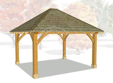 Medium Oak Framed Gazebo | Outdoor Seating Area | GM001 | Radnor Oak