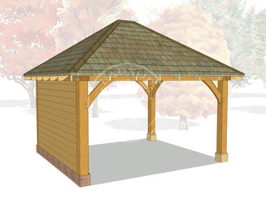 Oak Framed Gazebo | Outdoor Seating area Gazebo Cover | GM002 | Radnor Oak