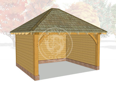 Medium Oak Framed Gazebo | Enclosed Outdoor Seating Area | GM004 | Radnor Oak