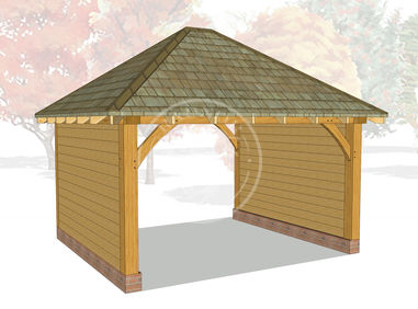 Medium Oak Framed Gazebo | Oak Garden Feature | GM005 | Radnor Oak