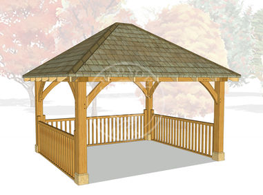 Medium Oak Framed Gazebo | Outdoor Entertaining Space | GM008 | Radnor Oak