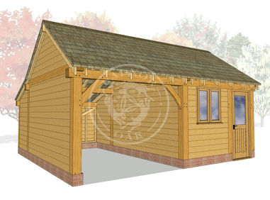 KI2010 | The Kinsham | 2 Bay Oak garage with a Workshop | Radnor Oak
