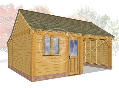 KI2013 | The Kinsham | Oak Garage and Workshop  | Radnor Oak