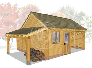 KI2015 | The Kinsham | Garage with workshop and logstore | Radnor Oak