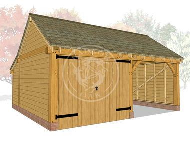 KI2016 | The Kinsham | Garage with one enclosed bay | Radnor Oak