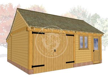 KI2022 | The Kinsham | Enclosed Garage with workshop |  Radnor Oak