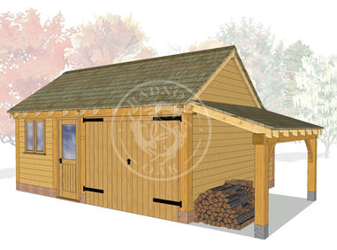 KI2026 | The Kinsham | 2 Bay Oak Garage | Workshop, Garage & Log store | Radnor Oak