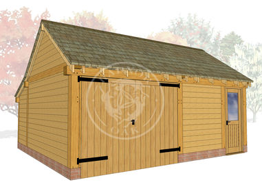 KI2028 | The Kinsham | Oak Framed Garage & Workshop | Radnor Oak