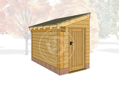 Oak Framed Log Store | Radnor Oak | LS2003 | Main Image