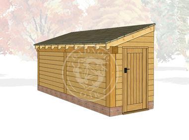 Oak Framed Log Store | Radnor Oak | LS3003 | Main Image