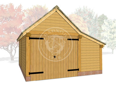 Model No. S004 | Radnor Oak | The Stapleton | Oak Framed Garage