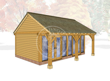 Oak Framed Summer House | Radnor Oak | SHL003 | Main Image