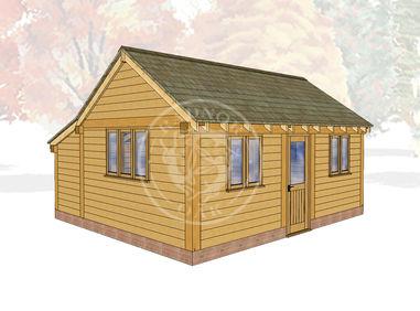 Oak Framed Summerhouse | Radnor Oak | SHL005 | MAIN IMAGE