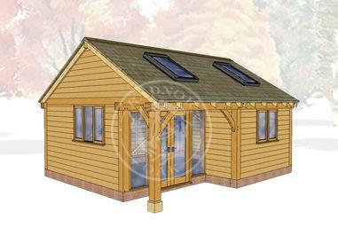 Oak Framed Summerhouse | Radnor Oak | SHL007 | MAIN IMAGE