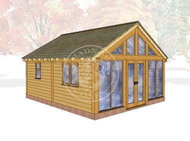 Oak Framed Summerhouse | Radnor Oak | SHL008 | MAIN IMAGE