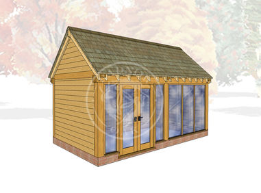 Oak Framed Summer House | Radnor Oak | SHM001 | Main Image