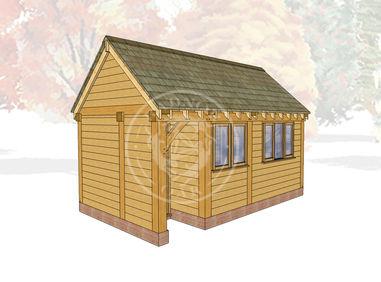 Oak Framed Summer House | Radnor Oak | SHM002 | Main Image
