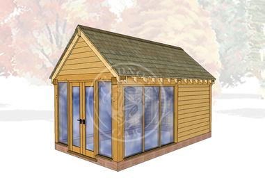 Oak Framed Summer House | Radnor Oak | SHM003 | Main Image