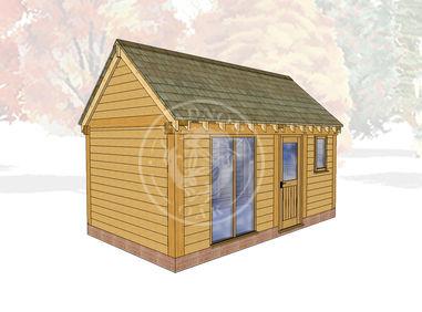 Oak Framed Summer House | Radnor Oak | SHM004 | Main Image