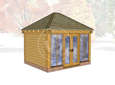Oak Framed Summerhouse | Radnor Oak | SHS001 | MAIN IMAGE