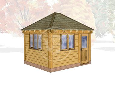 Oak Framed Summerhouse | Radnor Oak | SHS002 | Main Image
