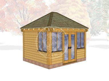 Oak Framed Summer House | Radnor Oak | SHS003 | Main Image
