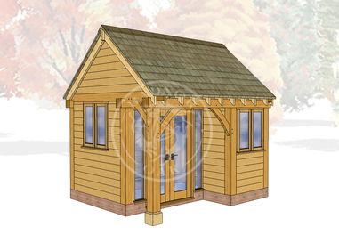 Oak Framed Summer House | Radnor Oak | SHS004 | Main Image