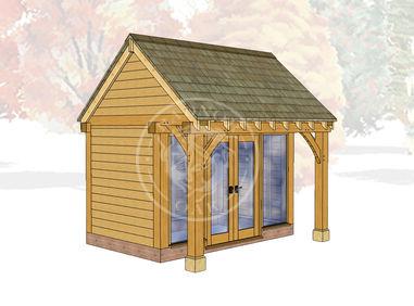 Oak Framed Summer House | Radnor Oak | SHS005 | Main Image