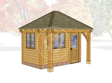 Oak Framed Summer House | Radnor Oak | SHS006 | Main Image