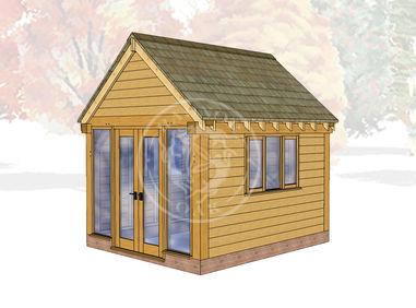 Oak Framed Summer House | Radnor Oak | SHS008 | Main Image