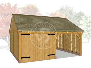 WA2016 | The Walton | 2 Bay Framed Oak Garage | Radnor Oak