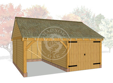 WA2019 | The Walton | 2 Bay Framed Oak Garage | Radnor Oak