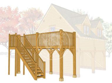 BGB2s - Brampton Balcony with stairs