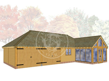 Bespoke Oak Framed Buildings | Oak Framed Stable Complexe & Workshop | Radnor Oak | BSP010