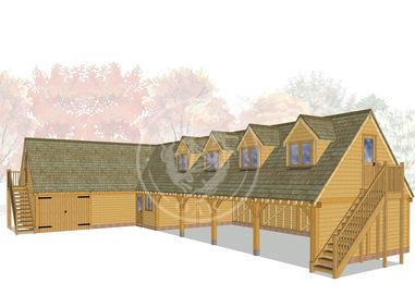 Bespoke Oak Framed Buildings   Oak Framed Stable Complexe & Workshop   Radnor Oak   BSP010